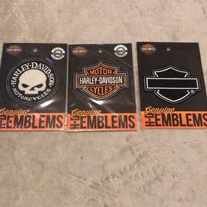 3 pack Harley Davidson patches
